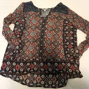 Medium Lucky Brand Floral Long Sleeve Top